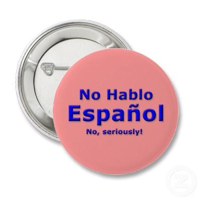 No hablo español