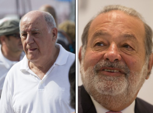 Amancio Ortega and Carlos Slim Helù