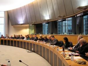 Jean-Benoît Nadeau au Parlement européen à Bruxelles