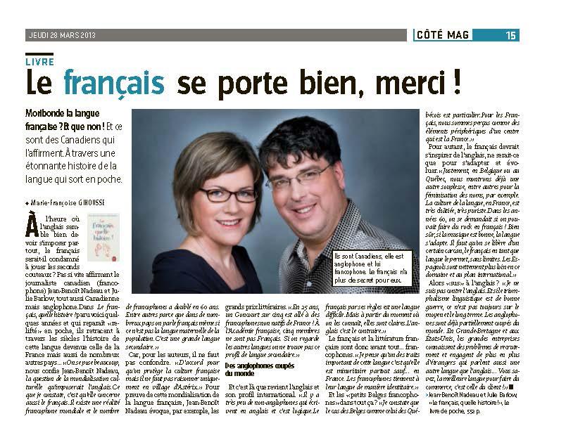Le français se porte bien, merci !