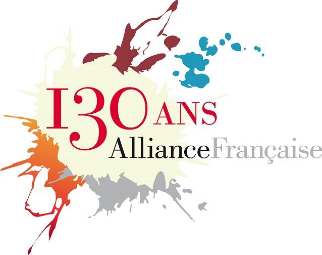 Logo 130 ans de l'alliance française