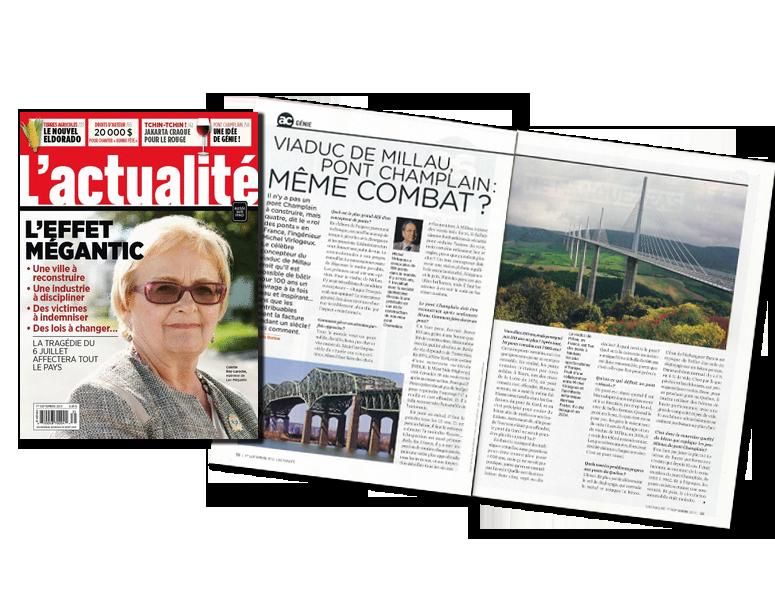 Magazine L'actualité septembre 2013