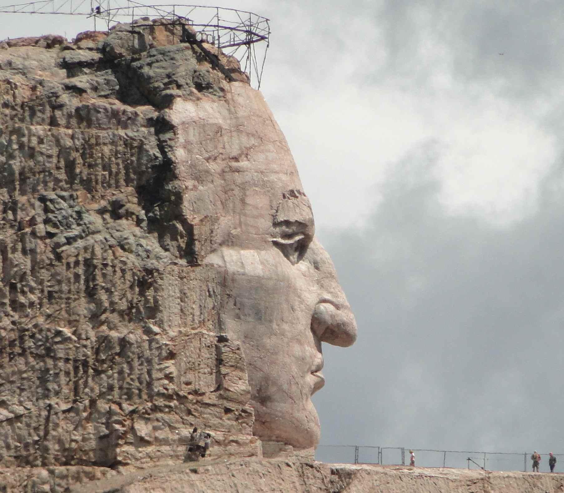 Statue monumentale de Crazy Horse, Dakota du sud.
