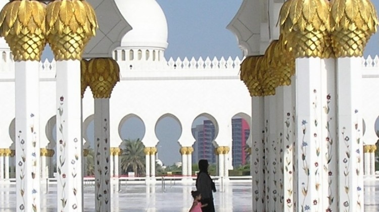 Mosquée Cheikh Zayed, à Abou Dhabi. ©Jean-Benoît Nadeau