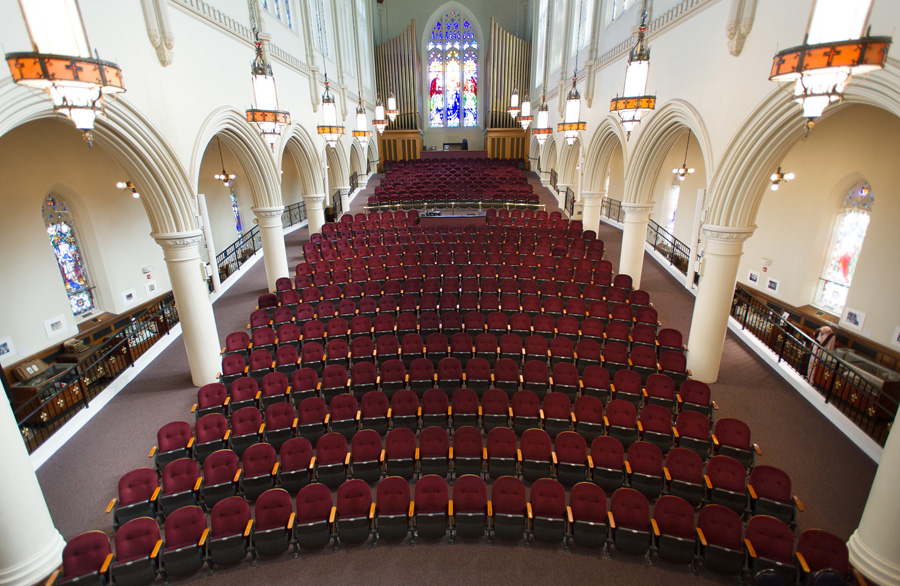 The Franco Center in Lewiston is located in the former St. Mary's Church. Photo: Franco Center.