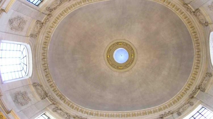 La Coupole de l'Académie, vue de l'intérieur. Photo: JBN