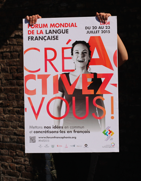 Affiche et slogan du Forum.  Source: OIF.