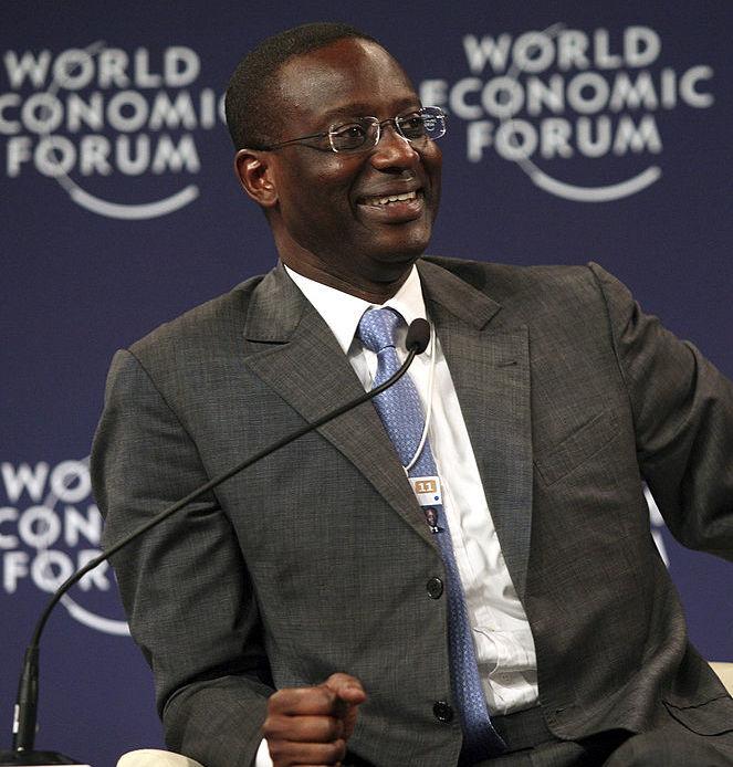Le nouveau PDG du Crédit Suisse est l'ivoirien Tidjane Thiam, qui parle français et allemand.  Source: Forum économique mondial
