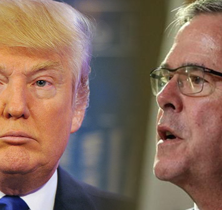 Donald Trump et Jeb Bush. Photo: CNN