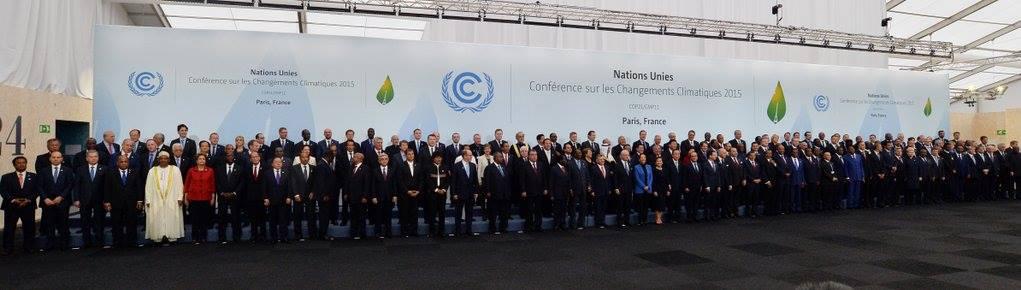 Les chefs d'État réunis à la COP21.