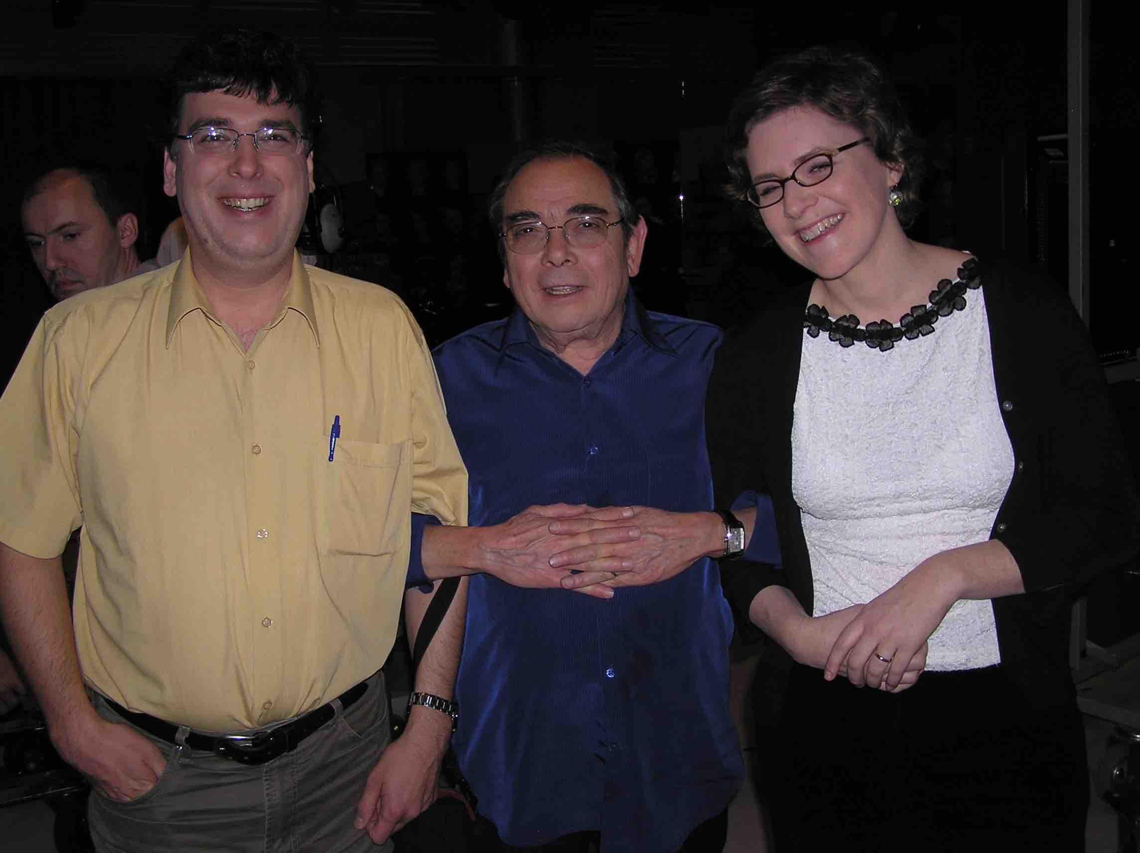 À France 2, en décembre 2005, avec Gotlib et Julie Barlow. / Photo: Catherine Hermann